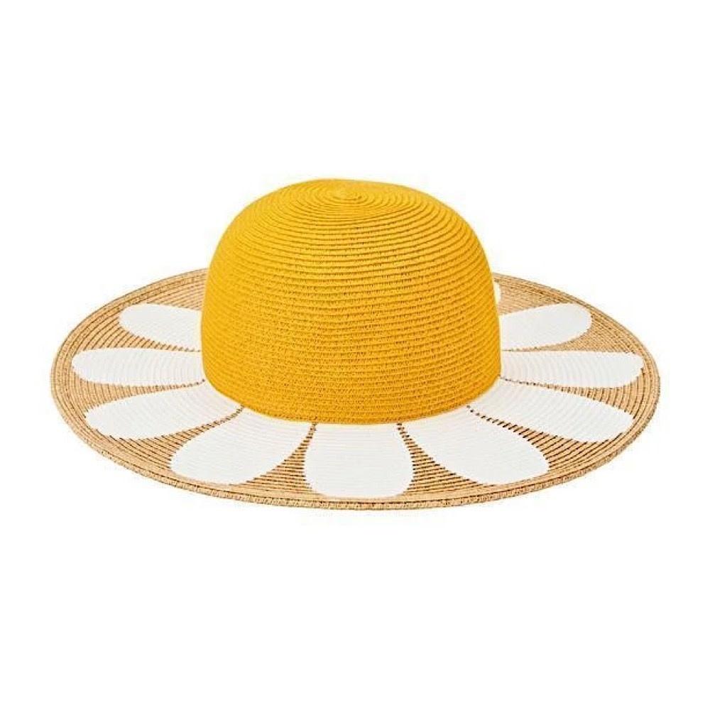 Kids Sun Hat - Yellow Flower