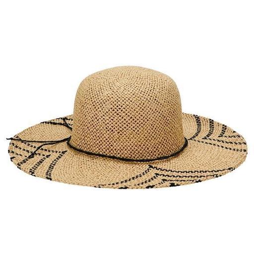 Sun Hat - Natural/Black Pattern