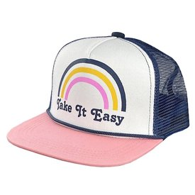 Tiny Whales Tiny Whales Take It Easy Hat - Pink/Navy