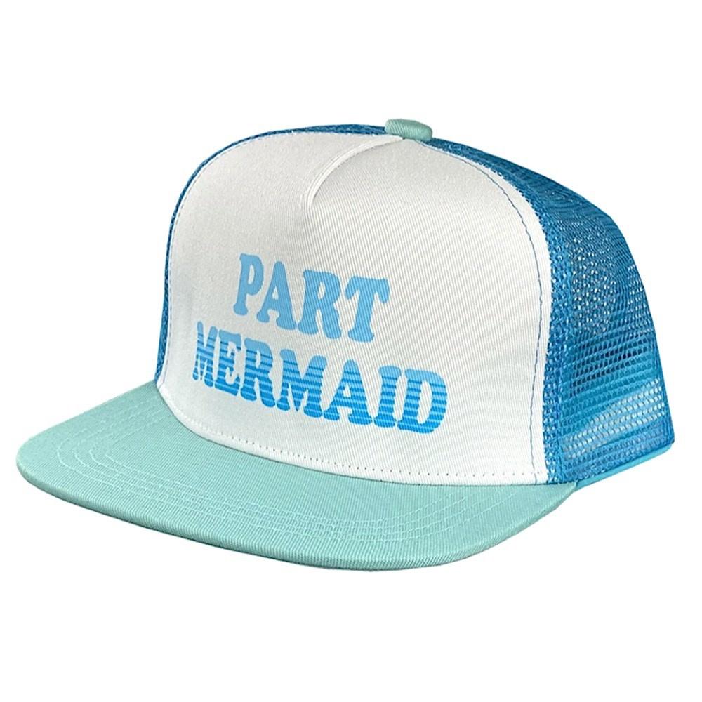 Tiny Whales Part Mermaid Hat - Seafoam/Teal Glitter