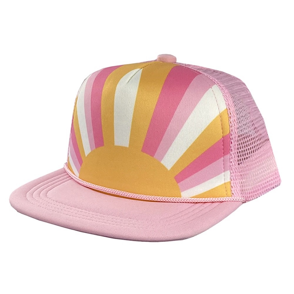 Tiny Whales Sun Child Hat - Pink/Multi