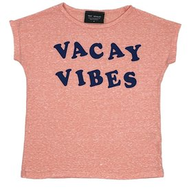 Tiny Whales Tiny Whales Vacay Vibes Dolman Tee - Tri Coral