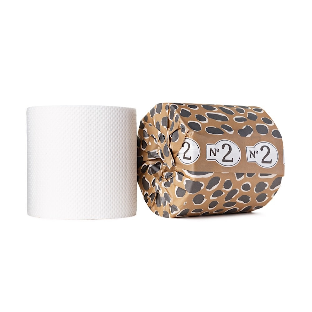 No. 2 Bamboo Toilet Paper - Leopard Print - Single Roll