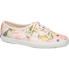 KEDS KEDS Adult + Rifle Paper Co. - Leather Champion / Garden Party - Pink