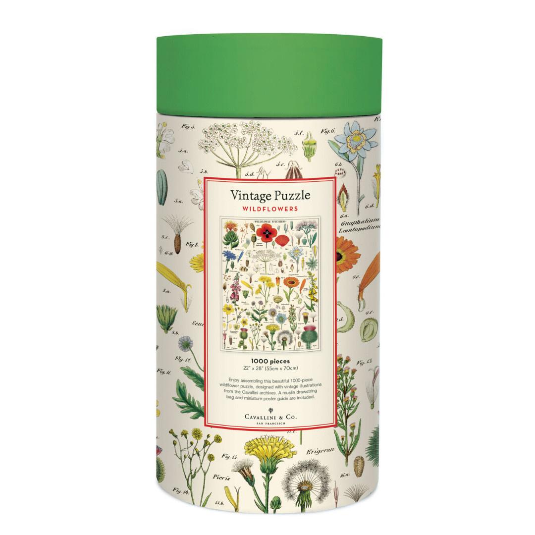 Cavallini Jigsaw Puzzle - Wildflowers - 1000 Pieces