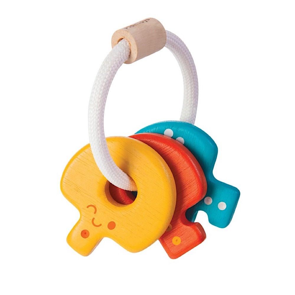 Plan Toys Baby Key Rattle - Rainbow