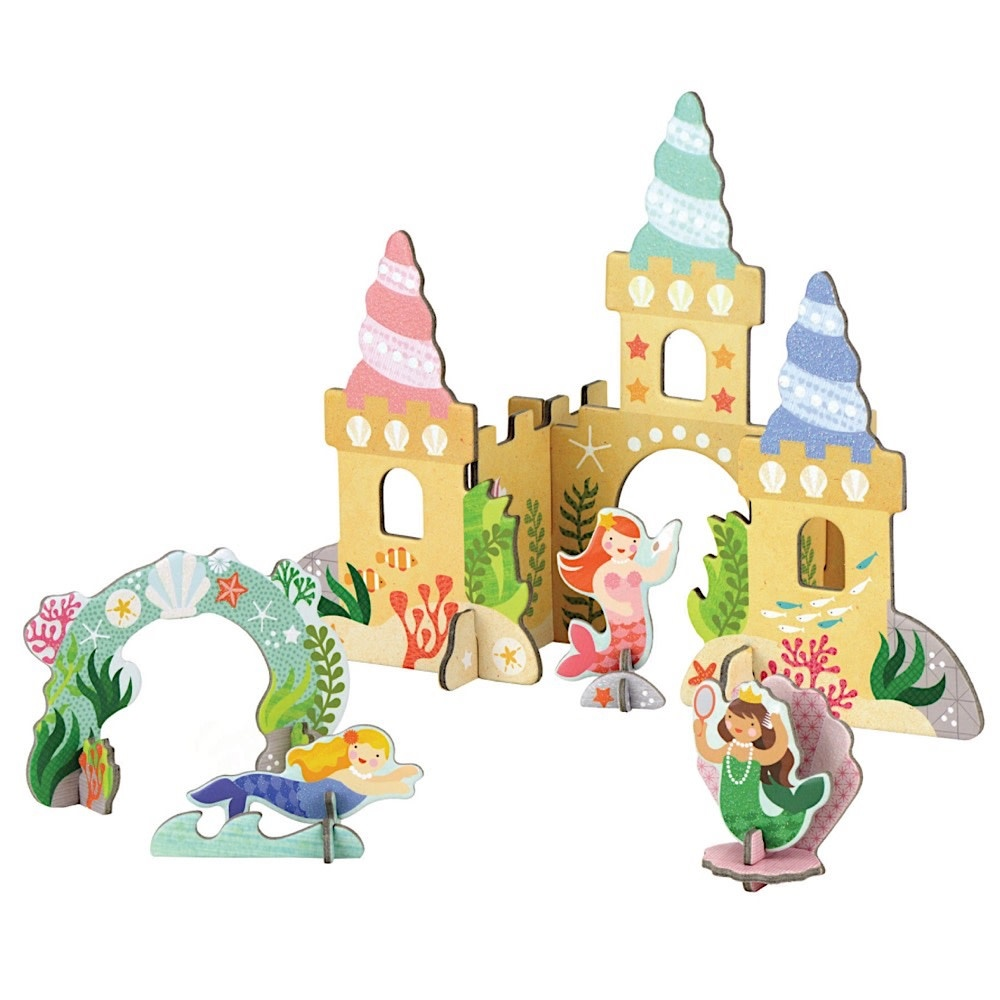 Petit Collage Pop-Out and Play Mermaid Castle