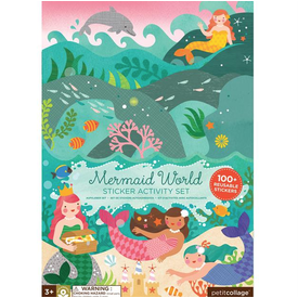 Petit Collage Petit Collage Sticker Activity Set - Mermaid World