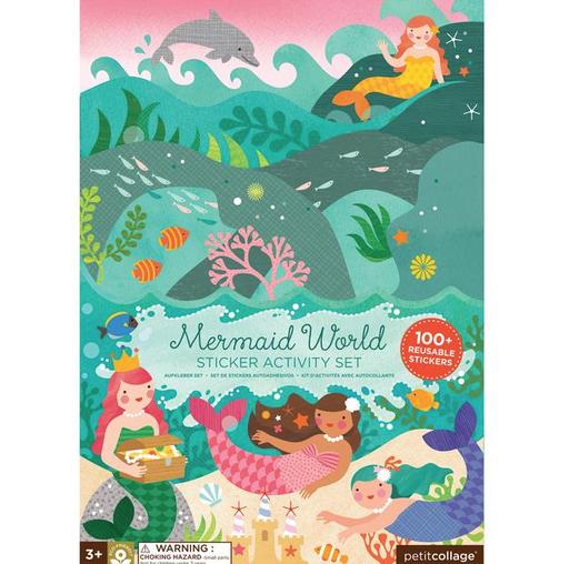 Petit Collage Petit Collage Sticker Activity Set - Mermaid World