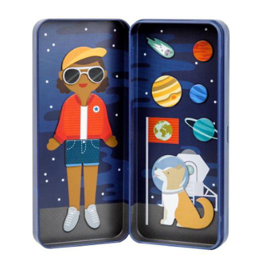Petit Collage Travel Magnetic Dress Up - Space Bound