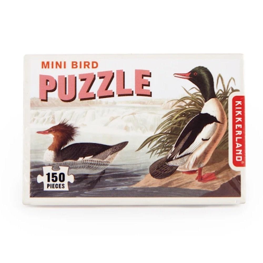 Kikkerland Mini Bird Jigsaw Puzzle - 150 Pieces - Assorted