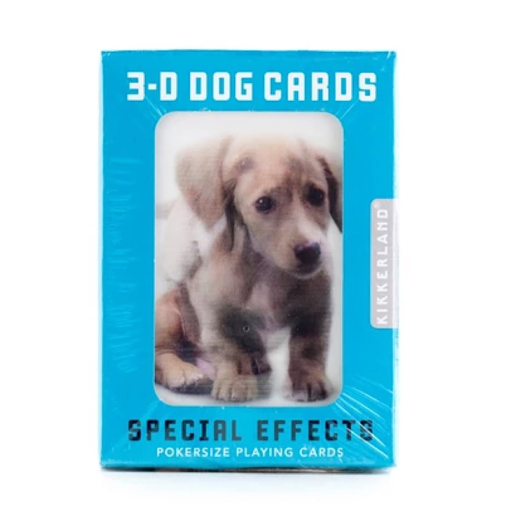 Kikkerland 3D Lenticular Playing Cards - Dogs