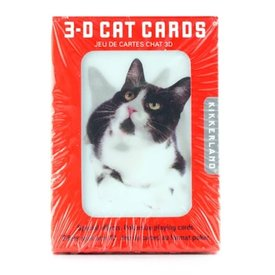 Kikkerland 3D Lenticular Playing Card - Cats