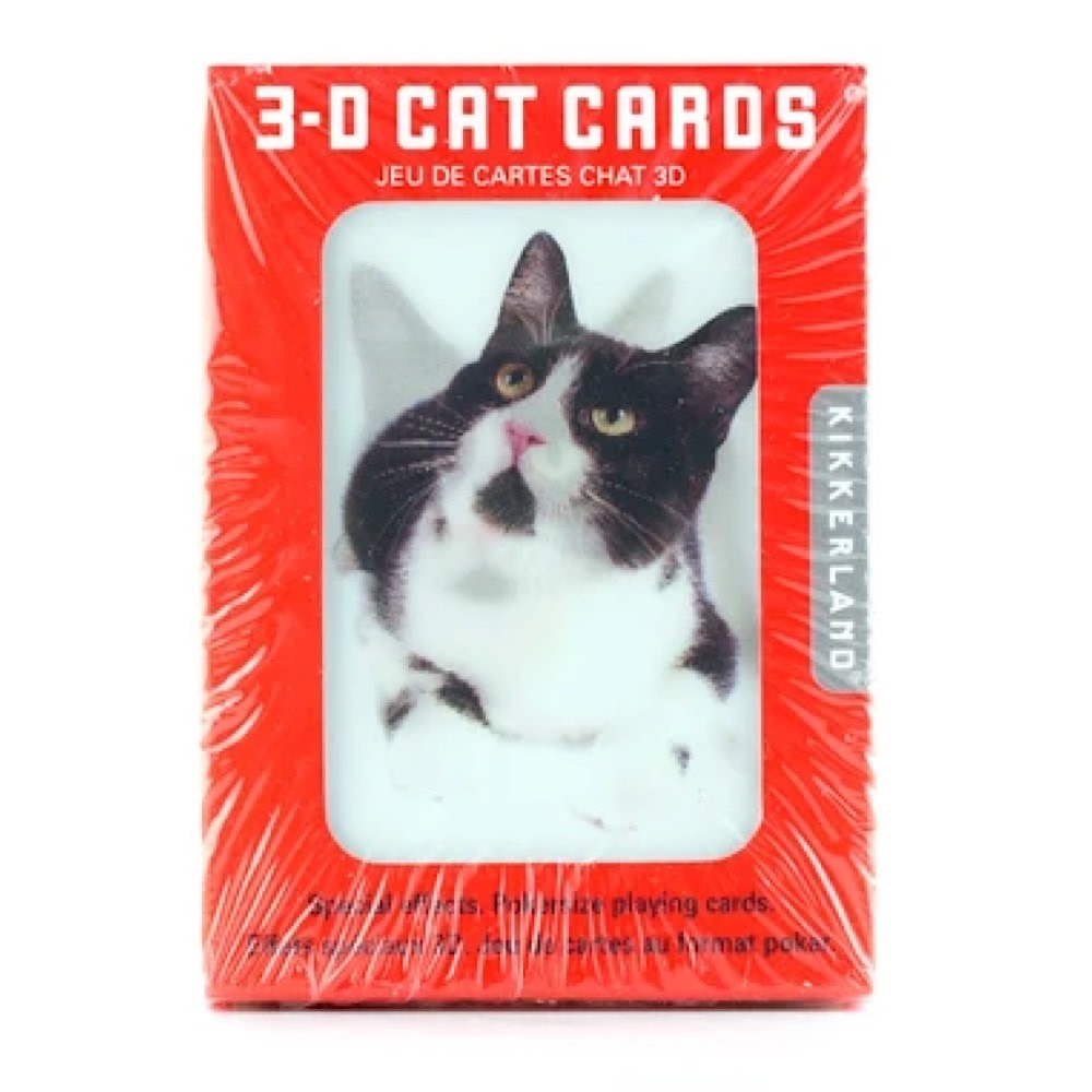 Kikkerland 3D Lenticular Playing Card - Cats