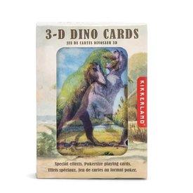 Kikkerland 3D Lenticular Playing Cards - Dinosaurs