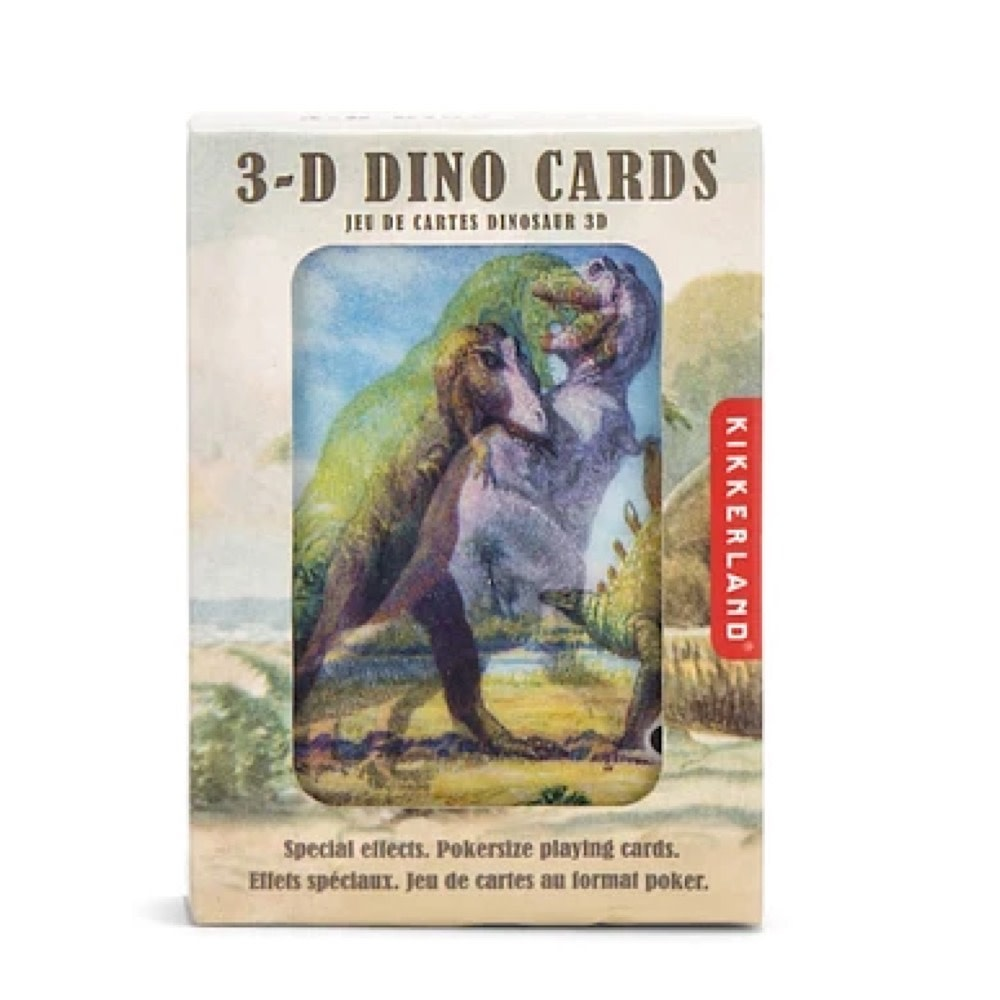 Kikkerland 3D Lenticular Playing Cards - Dinosaurs