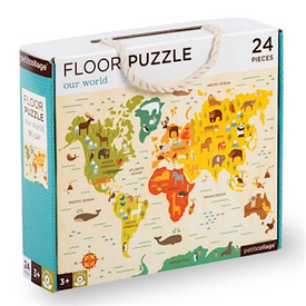 Petit Collage Petit Collage Floor Puzzle - Our World - 24 Pieces