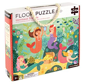 Petit Collage Petit Collage Floor Puzzle - Mermaid Friends - 24 Pieces