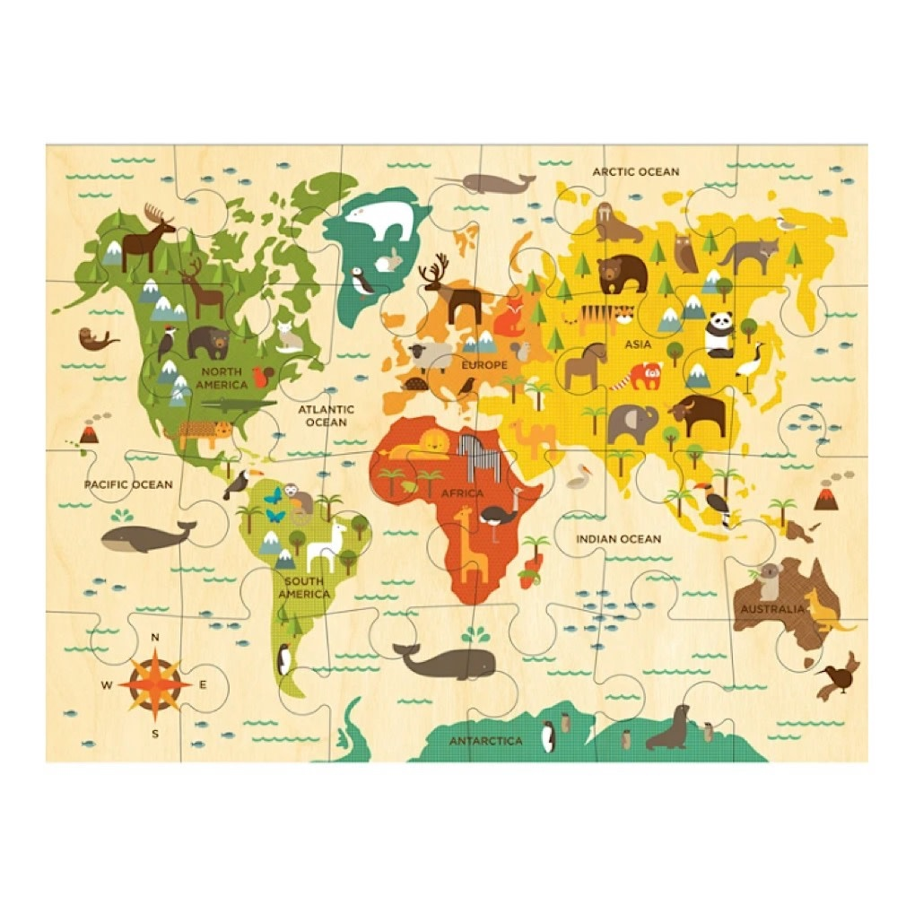 Petit Collage Floor Puzzle - Our World - 24 Pieces