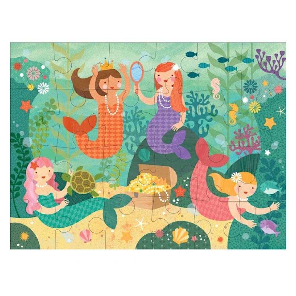 Petit Collage Floor Puzzle - Mermaid Friends - 24 Pieces