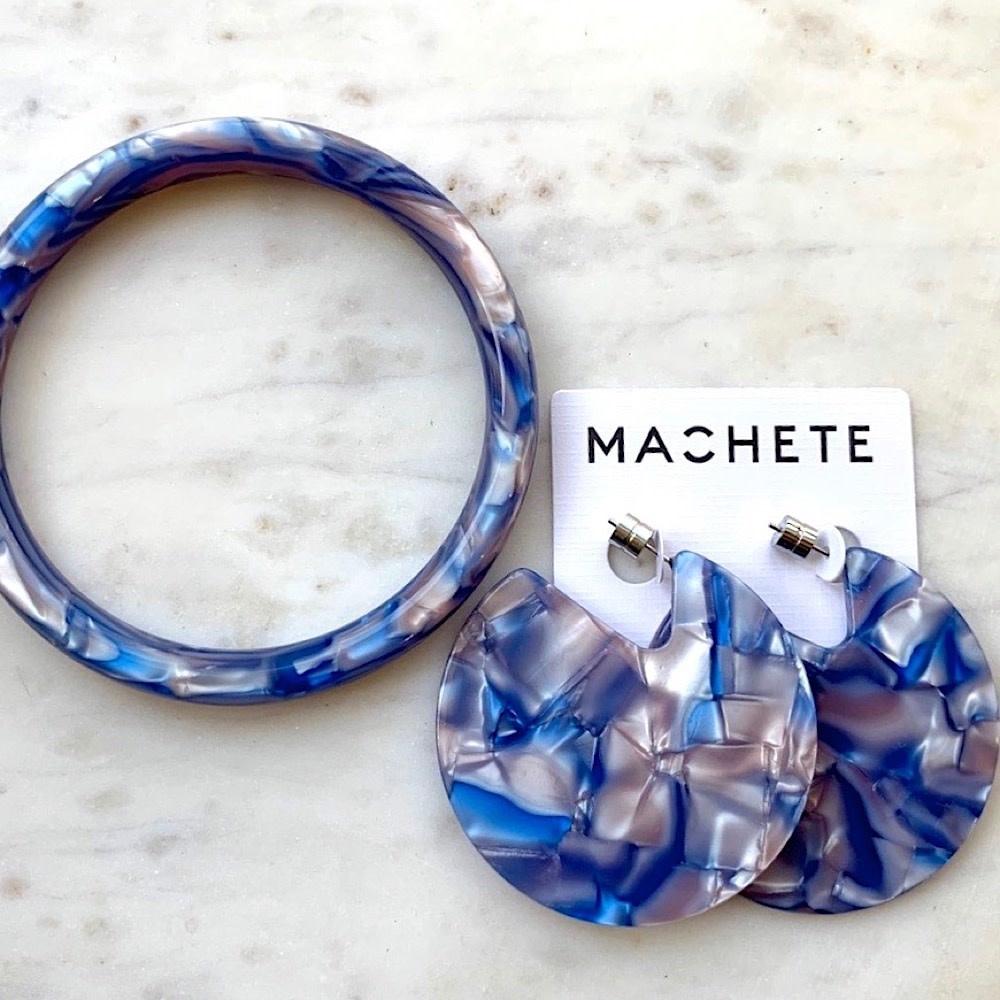 Machete - Statement Bangle - Mazarine