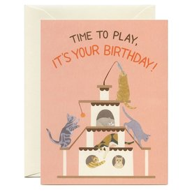 Yeppie Paper Yeppie Paper Playful Cats Birthday Card