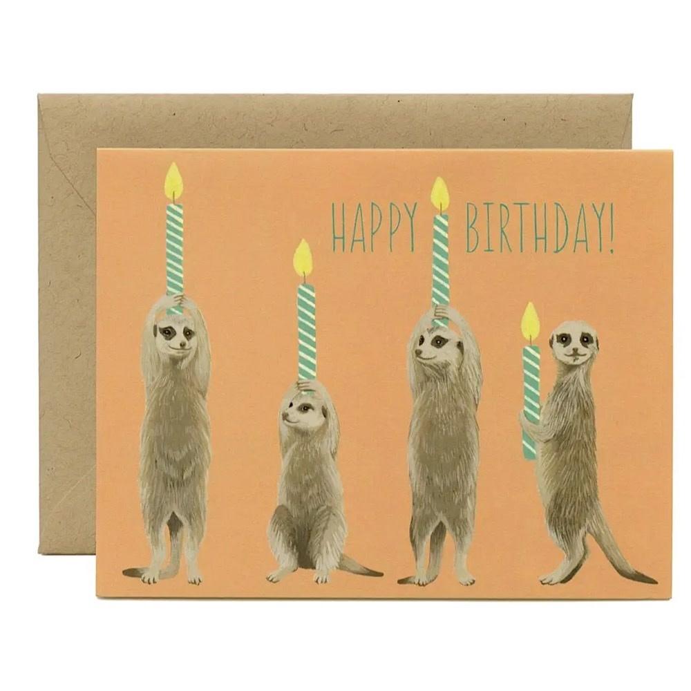 Yeppie Paper Card - Meerkat Birthday