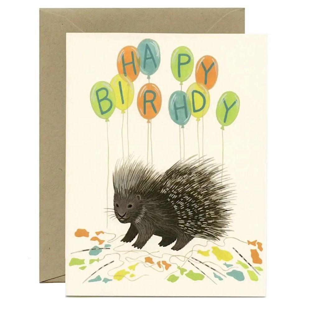 Yeppie Paper Porcupine Balloons Card