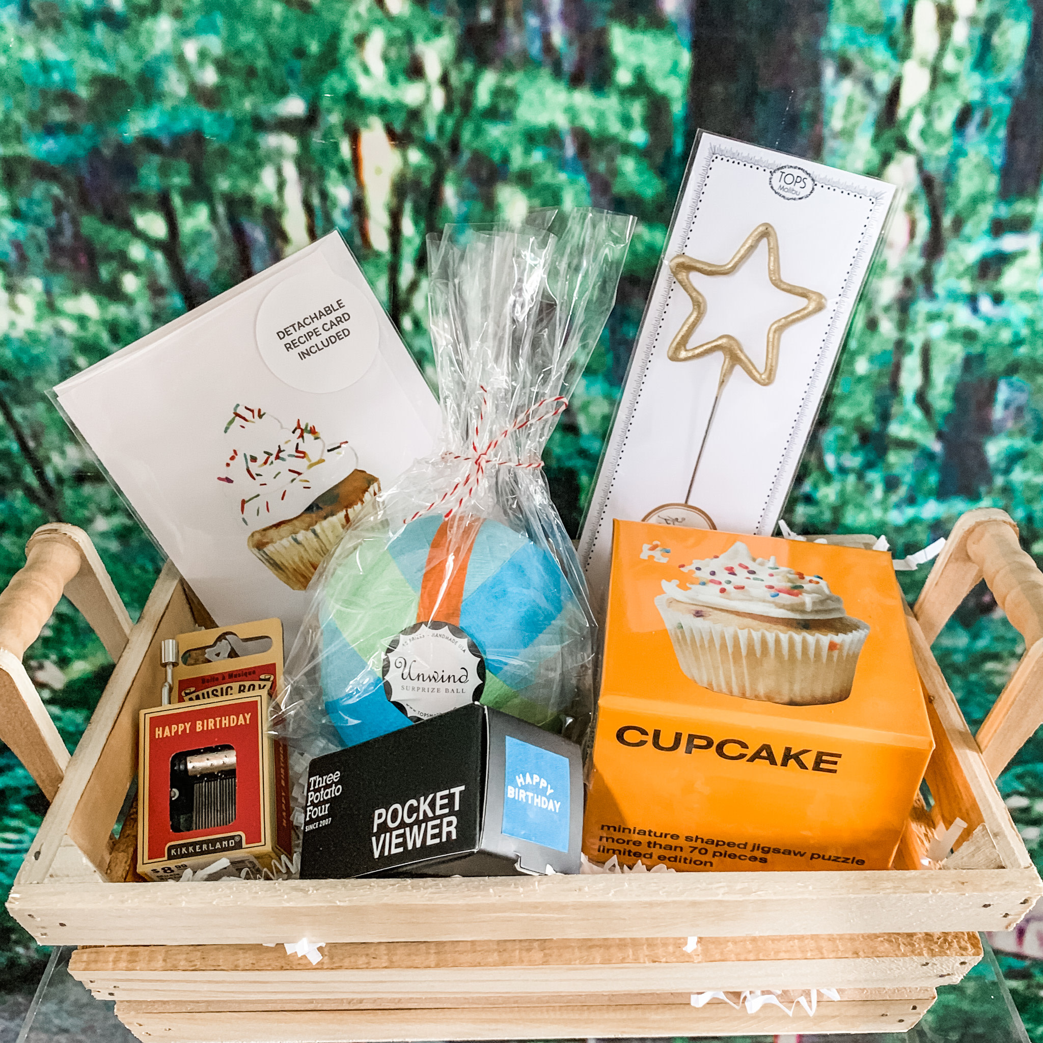 Daytrip Society Gift Basket - Cupcake Birthday
