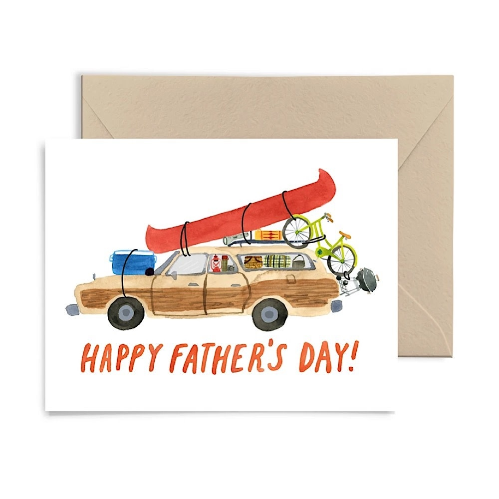 Little Truths Fathers Day Station Wagon Card