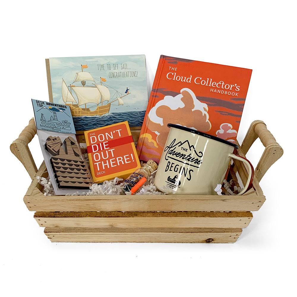 Daytrip Society Gift Basket - Time To Set Sail Graduation