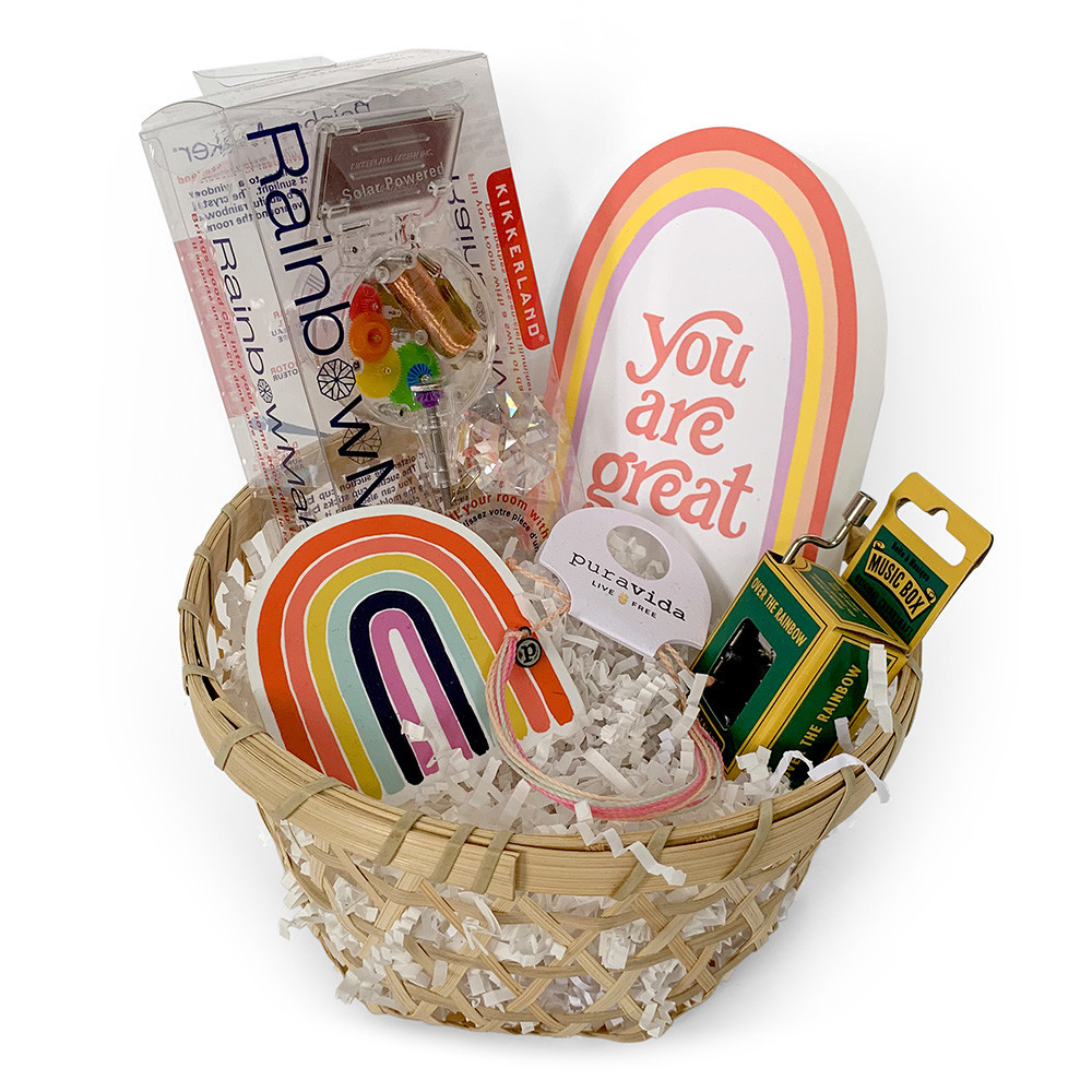 Daytrip Society Gift Basket - Over The Rainbow
