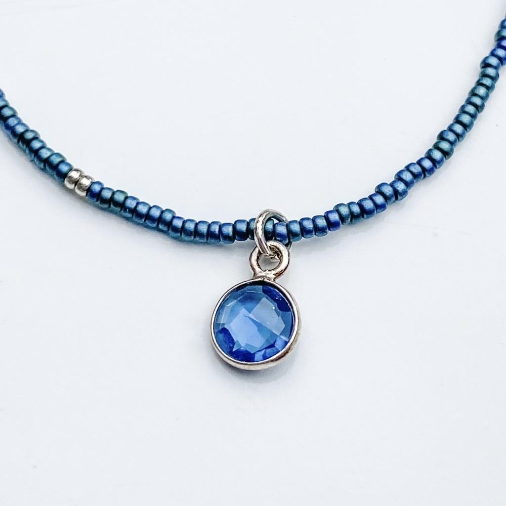 Sarah Crawford Handcrafted Sarah Crawford Beaded Necklace - Dark Harbor - Kyanite
