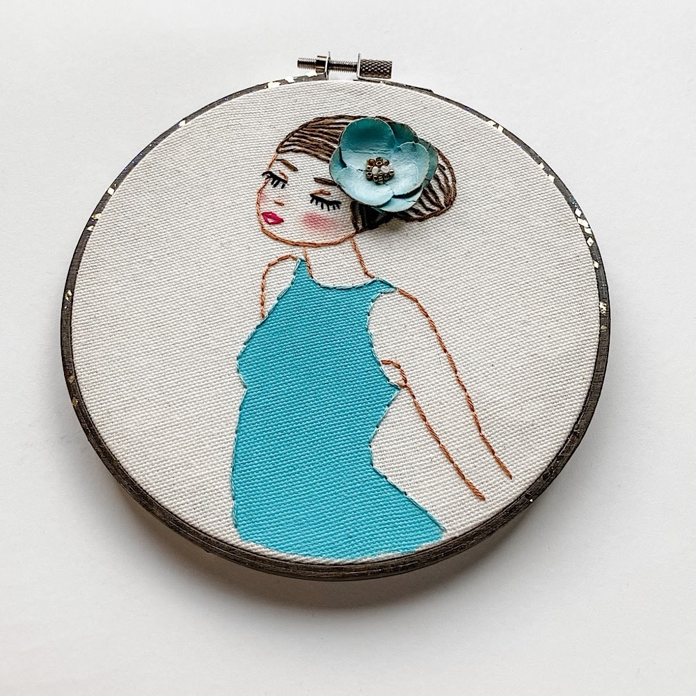 "Embroidered Hoop 6"" - Wading"