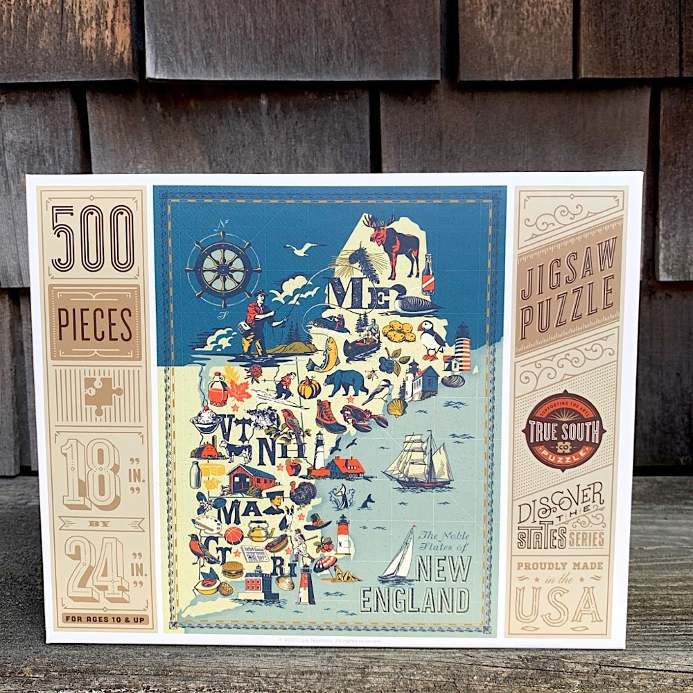 True South Puzzle - New England States