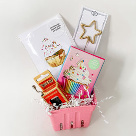 Daytrip Society Gift Basket - Mini Cupcake Birthday