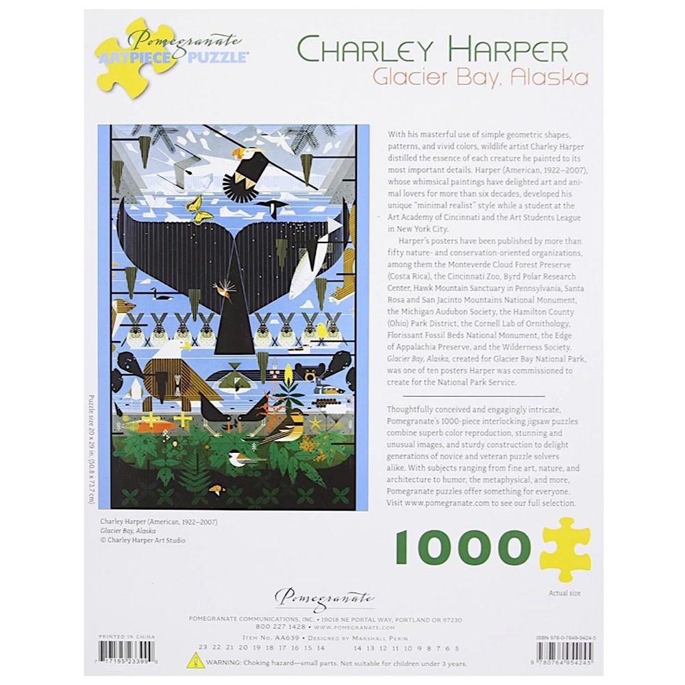 Charley Harper - Glacier Bay Alaska Jigsaw Puzzle - 1000 Pieces