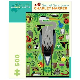 Pomegranate Charley Harper - Secret Sanctuary Jigsaw Puzzle - 500 Pieces