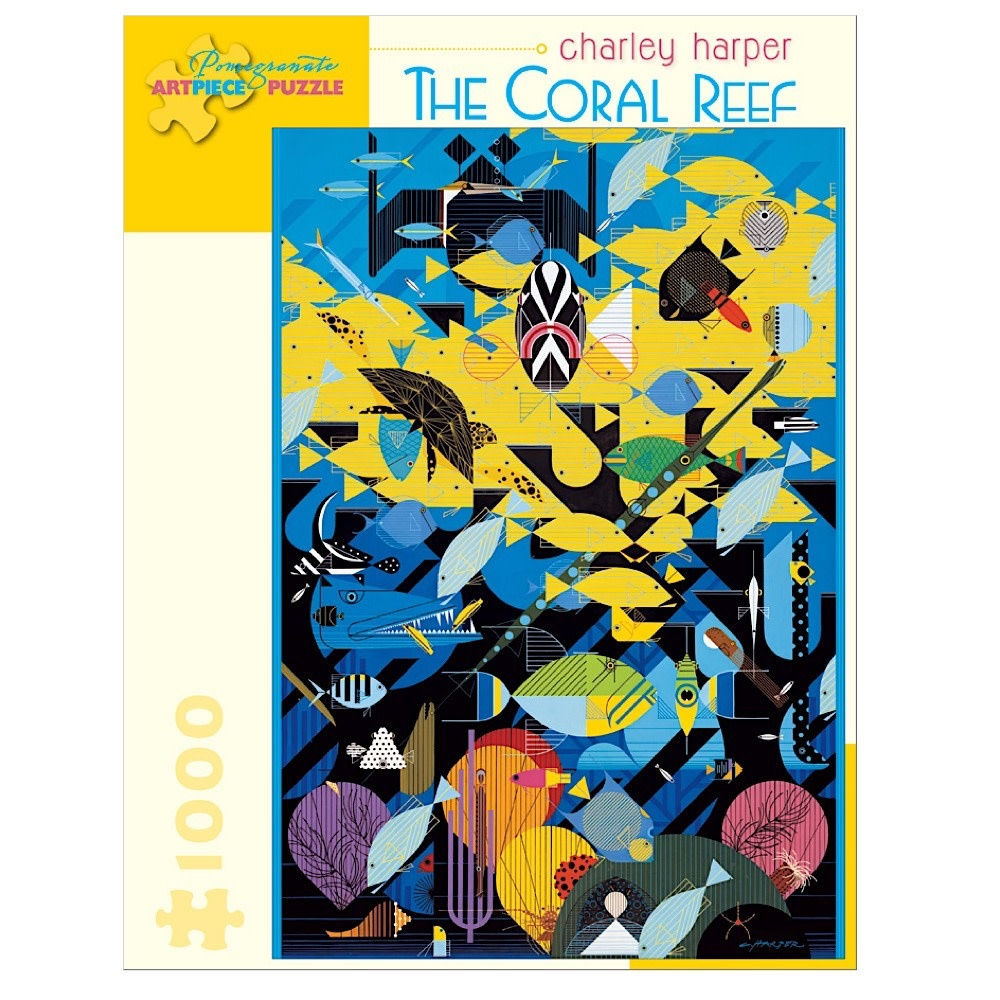 Charley Harper - The Coral Reef Jigsaw Puzzle - 1000 Pieces