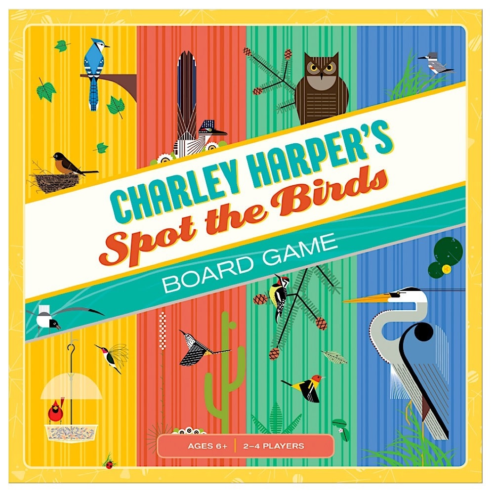 Pomegranate Charley Harper's Spot The Birds Board Game