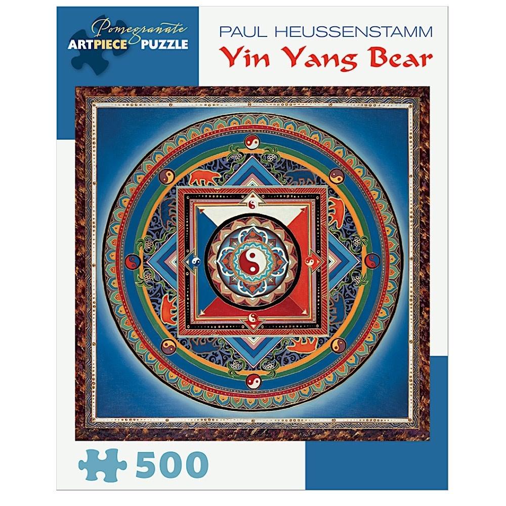 Pomegranate Paul Heussenstamm - Yin Yang Bear Jigsaw Puzzle - 500 Pieces