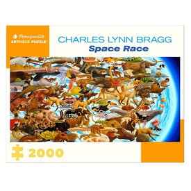 Pomegranate Charles Lynn Bragg - Space Race Jigsaw Puzzle - 2000 Pieces
