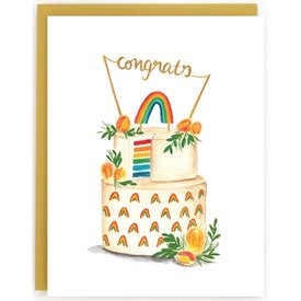 The Paperhood (Made In Brockton Village) The Paperhood Card - Wedding Rainbow Cake
