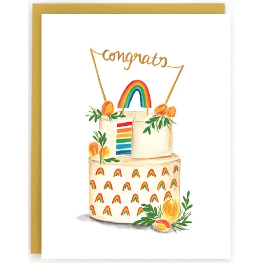 Made In Brockton Village Card - Wedding Rainbow Cake