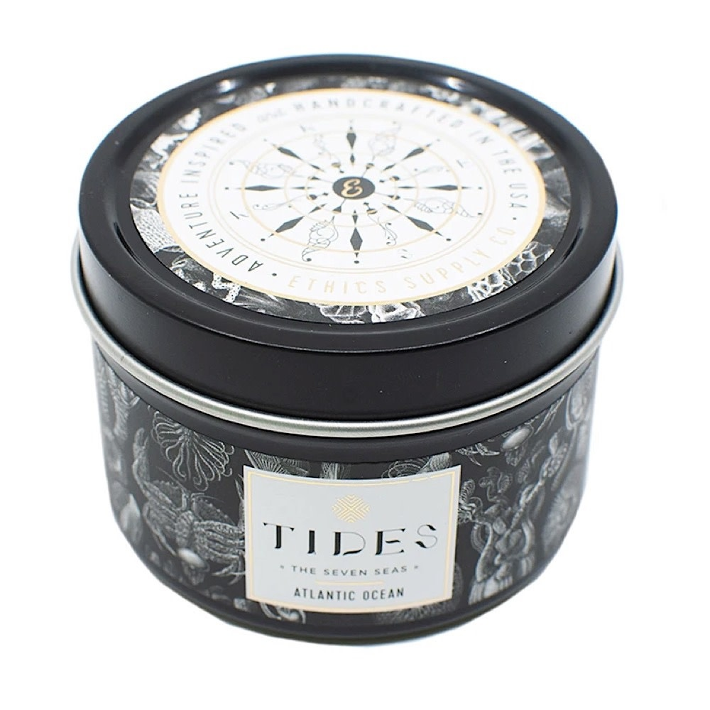 Ethics Supply Co. Ethics Supply Co. Travel Candle - TIDES - Seven Seas - Atlantic Ocean - 3.8oz