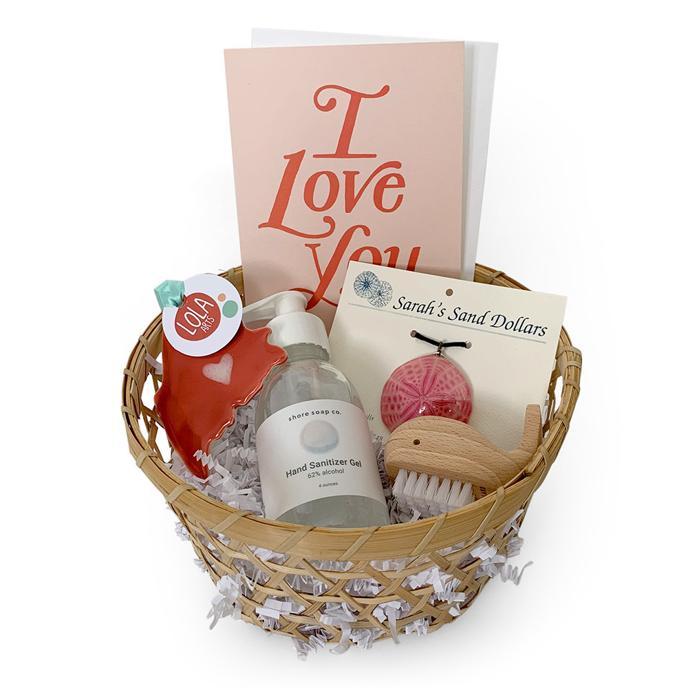 Gift Basket - Love From Maine - Coral