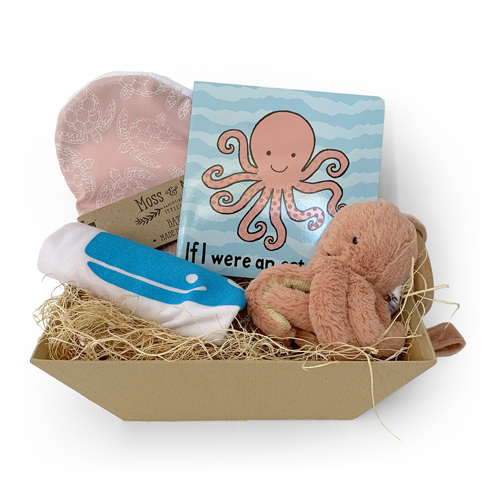 Daytrip Society Gift Basket - Octopus Baby