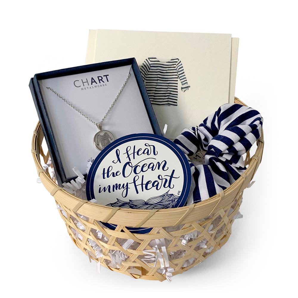 Gift Basket - Striped Shirt