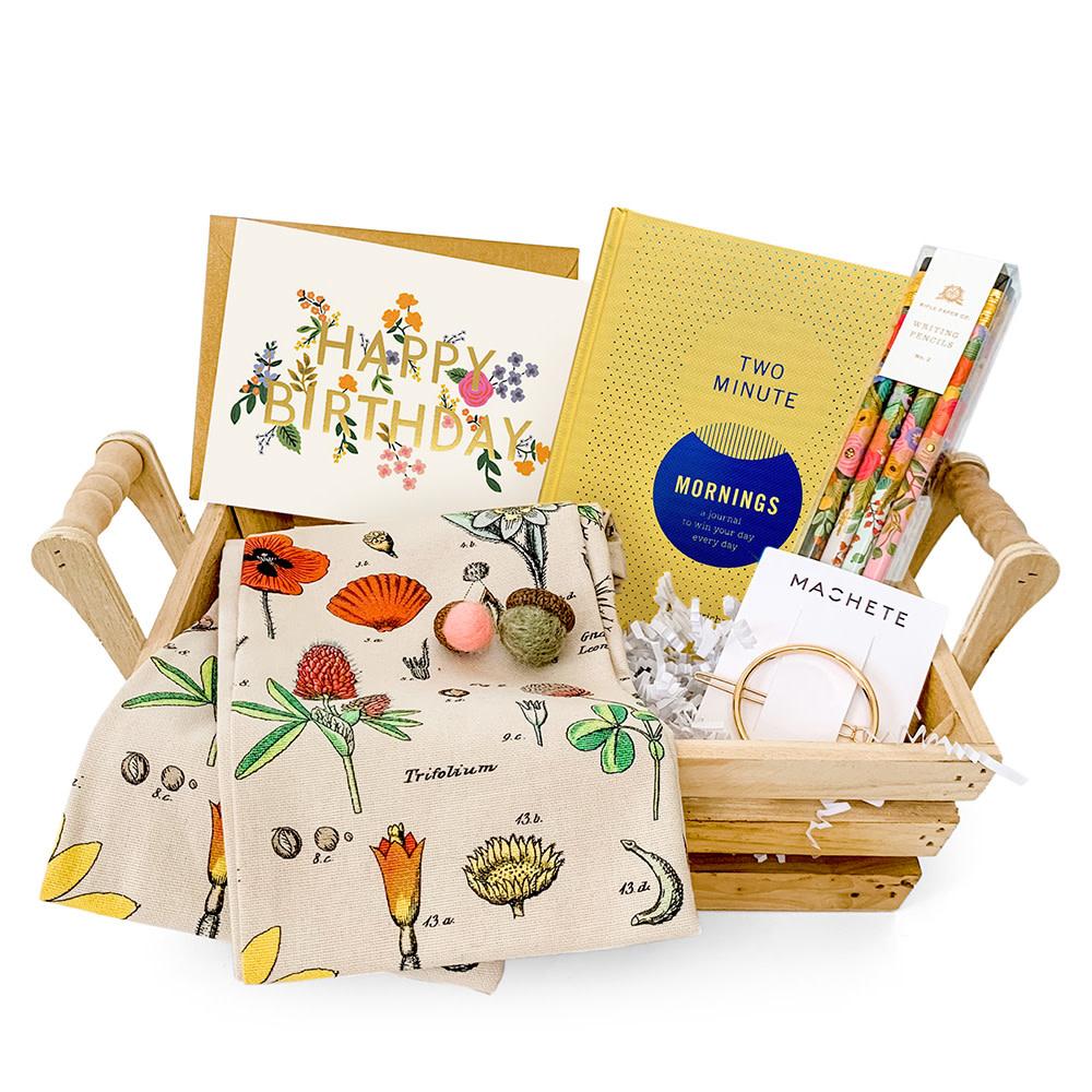 Daytrip Society Gift Basket - Wildflowers Birthday