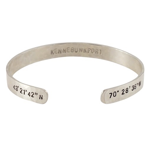 Becoming Jewelry Custom Coordinates Cuff Bracelet - Kennebunkport